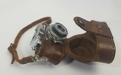 Vintage Tone TOKO Subminiature Anastigmat Camera w/ Leather Case Occupied Japan