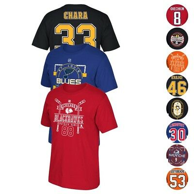 NHL Team Player Name & Number Jersey T-Shirt Collection Men's
