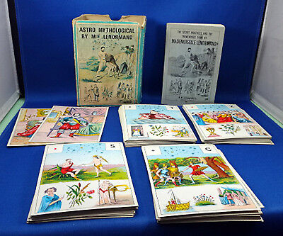 Astro Mythological Oracle Card Game by Mlle Lenormand 1970 Complete Numerology