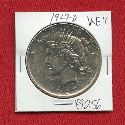 1927 D Peace Silver Dollar #89256 $ High Grade Coin Us Mint Rare Key Date Estate