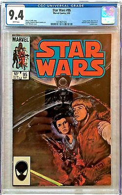 Cgc 9.4 Star Wars #95 .. Painted Cover .. Kent Williams Cover ..