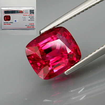 3.42Ct.FREE Certificate! Natural BIG Ultra Hot Pink Spinel MaeSai,Thailand