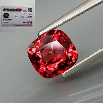 1.90Ct.FREE! Certificate Natural Padparadsha Spinel MaeSai,Thailand Full Fire!