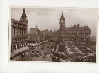 Princes Street Edinburgh East End Vintage RP Postcard 224b