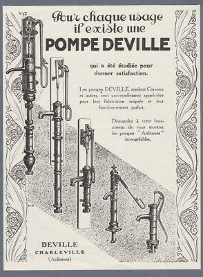 1926 Print Ad Deville Water Pumps Home Water Supply