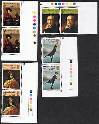 British Paintings Reynolds & Raeburn MINT Stamps 1973 Strips with traffic lights