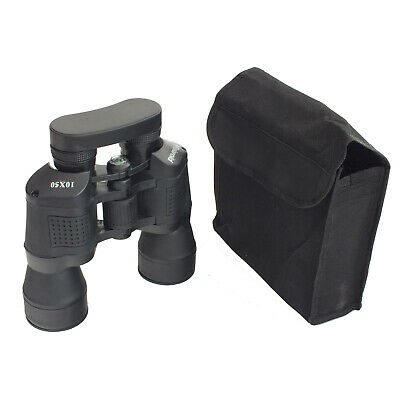 Polaroid Rubberised 10 X 50 Magnification Binoculars With Compass & Carry Case