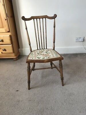 antique bedroom chair solid wood.