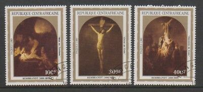 Central African Rep - 1983, Easter (Paintings) set - CTO - SG 927/9