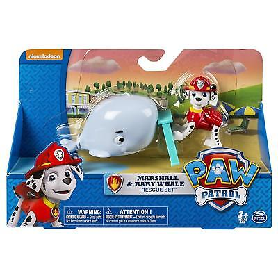 Nickelodeon Paw Patrol Marshall Baby Whale Rescue Figure Set Toy New