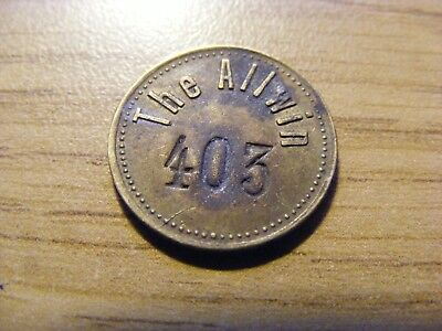 A The Alwin One Penny token - nice condition - 18mm Dia