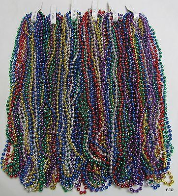 Mardi Gras Beads 6 Dozen Assorted Colors Bead 33 in Parade School 72 Necklaces