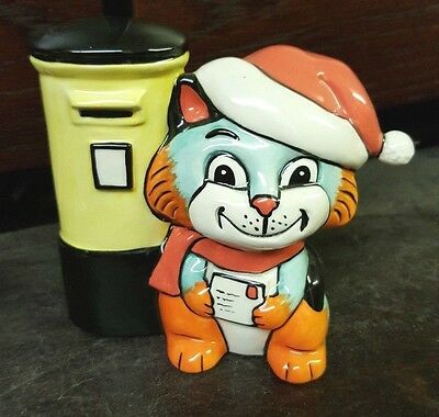 Lorna Bailey CAT with Santa Hat open day piece Limited Edition 30/50 FREE P&P