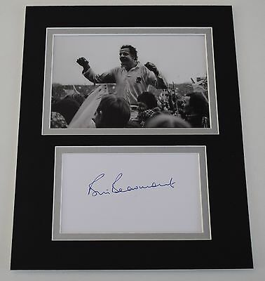 Bill Beaumont Signed Autograph 10x8 photo display England Rugby Union AFTAL COA
