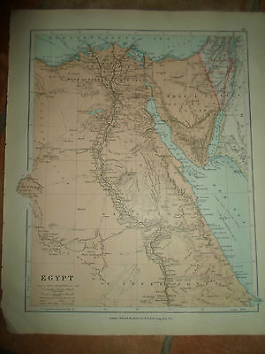 MAP c1920 EGYPT Stanfords London Atlas of Universal Geography
