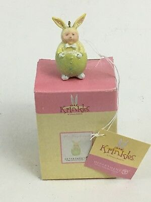 Dept. 56 Patience Brewster Krinkles Easter Green Mini Bunny Ornament 56.24974