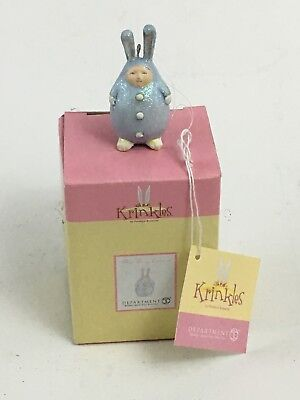 Dept. 56 Patience Brewster Krinkles Easter Blue Mini Bunny Ornament 56.24974