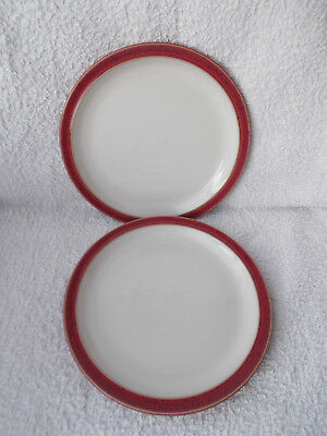 Denby Harlequin Lite Red - 2 Salad or Dessert Plates 8.5""