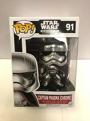 Star Wars Smugglers Bounty Exclusive Captain Phasma Chrome Pop! Vinyl Figure