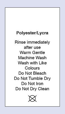 Polyester Lycra Wash Sewing Washing Care Label 5 Pack Sizes