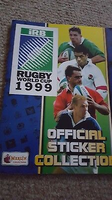 Rugby World Cup 1999 Merlin Official Sticker Collection completed