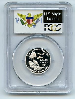 2009 S 25C Silver Virgin Islands Quarter PCGS PR69DCAM