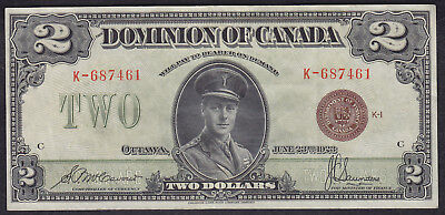 1923 Dominion Of Canada 2 Dollars Bank Note Bronze Seal