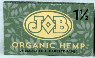 JOB Organic Hemp Unbleached 1 1/2 Rolling Papers 1.5 Paper (1 Pack of 24)