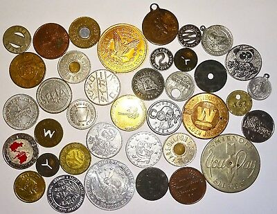 LOT of ASSORTED Vintage TOKENS and MORE~LOT #0! NR!