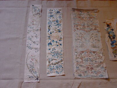 6 !! Wonderful ANTIQUE SILK AND BROCADE CHINESE NEEDLEWORK SOME VERY OLD **HG***