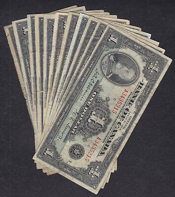 1935 Canada 1 Dollar Bank Note Lot Of 11
