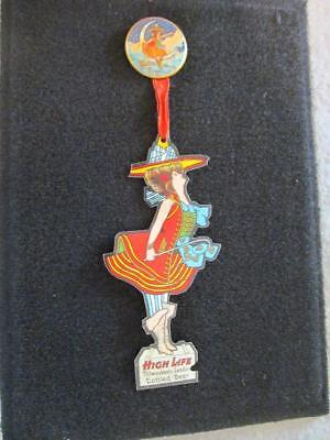 Antique Miller High Life beer pin, 1907