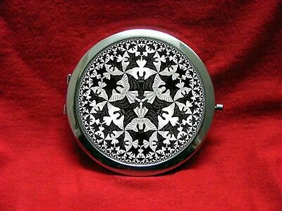 Bat Angel Optical Illusion Goth Round Compact Mirror