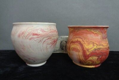 2x VTG Garden Of The Gods Colorado Springs Pottery Clay VASE-Pots Nemadji EX-NR!