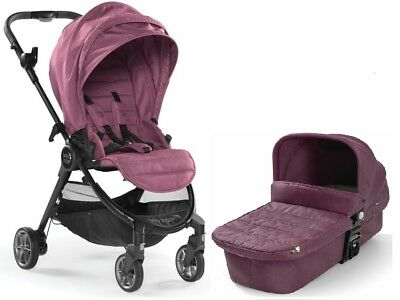 Baby Jogger City Tour Lux Stroller w/ Bassinet Kit Pram Travel System Rosewood