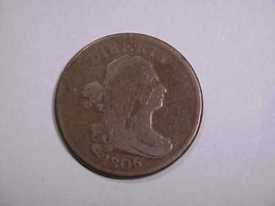 1806 Draped Bust Half Cent NICE DETAIL NO RESERVE!