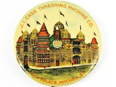 Antique Case Threshing Machine Corn Palace Agricultural Advertising Pin Button