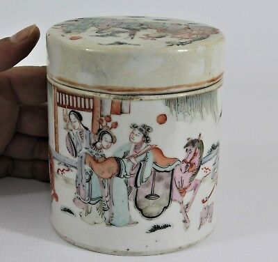 Very Fine 18/19th Century Chinese Antique Qing Dynasty Porcelain Pot Jar Marked