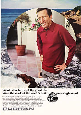 1966 Andy Williams Photo Puritan Knit Shirt print ad