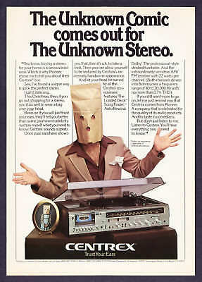 1979 The Unknown Comic photo Centrex Stereo print ad