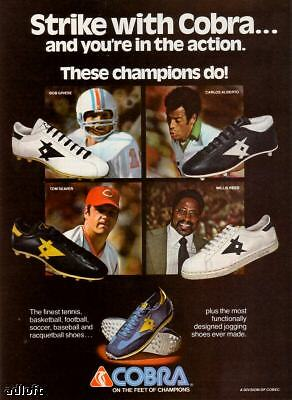 1978 Bob Griese Tom Seaver Cobra Sport Shoes print ad