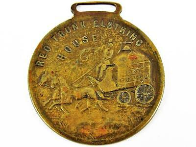 Antique Red Trunk Clothing House V. Gilcrest Hamilton, Oh Advertising Watch Fob