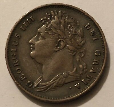 COPPER FARTHING 1825 COIN KING GEORGE IV — Good Condition