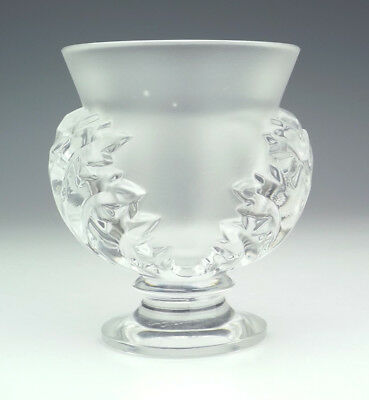 Vintage Lalique Glass - St Cloud Pattern Frosted Glass Vase - Lovely!