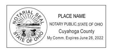 State of Ohio l Rectangle Self-Inking Notary Public Stamp - Ohio