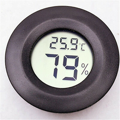 Indoor Outdoor Digital LCD Thermometer Humidity Outdoor Home Office Round U87