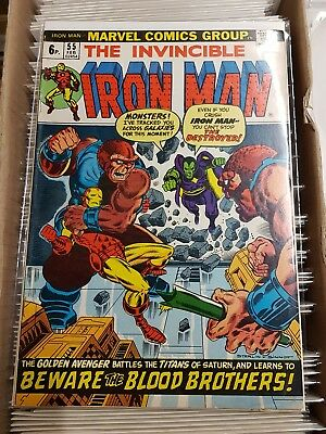 The Invincible Iron Man #55 CGC 7.5  1st Appearance of Thanos!
