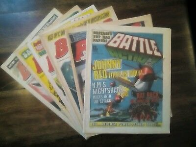 6 Battle Picture Weekly Comics from 1976/79   (Free P&P) See Notes (Only £5.99)