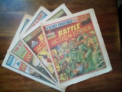 Battle Action Force Comics x4 from 1985 (Free P&P)Now only £4.49