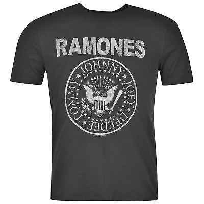 Amplified Clothing Mens The Ramones T Shirt Short Sleeve Crew Neck Tee